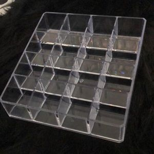 Lipstick holder organizer acrylic clear makeup